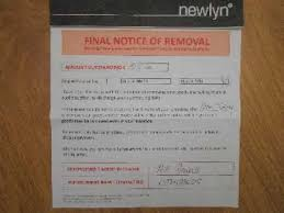newlyn notice of removal