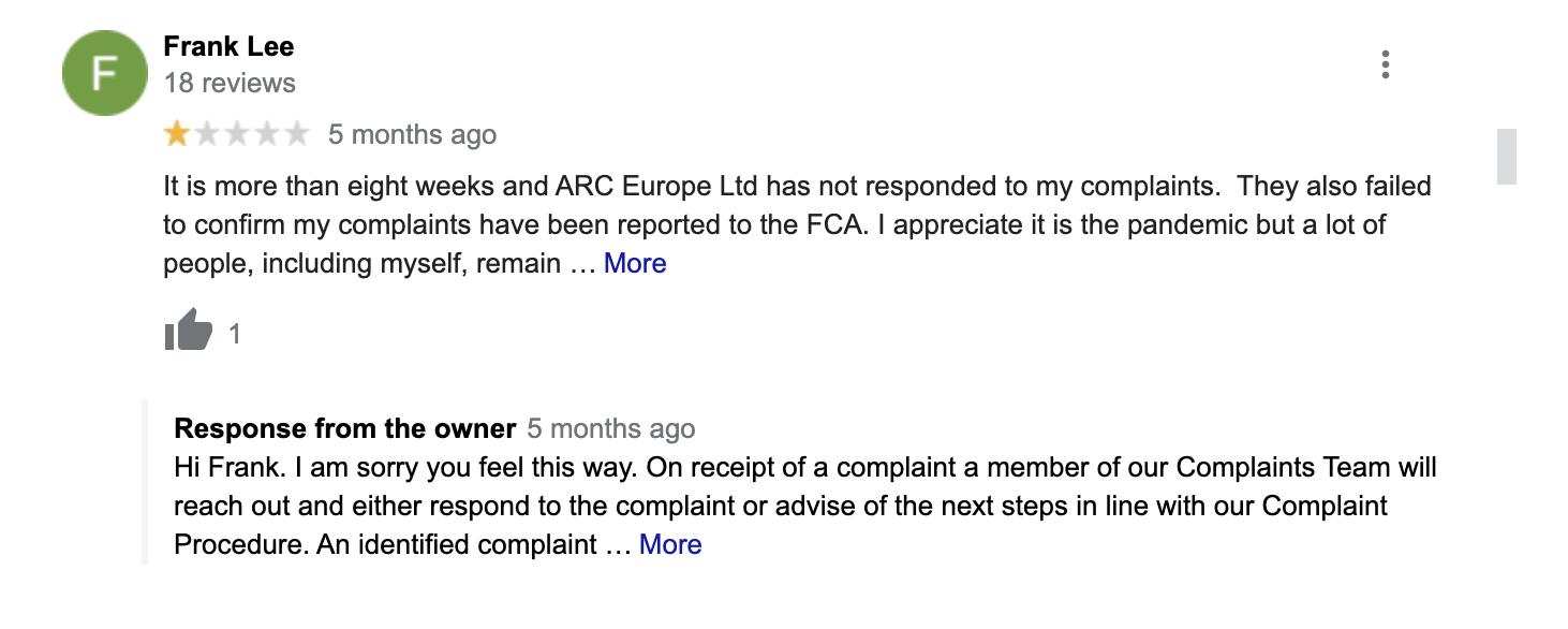 ARC Europe Second Complaint