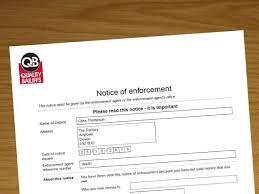 Notice of Enforcement