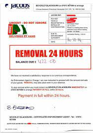 Removal Notice from Jacobs